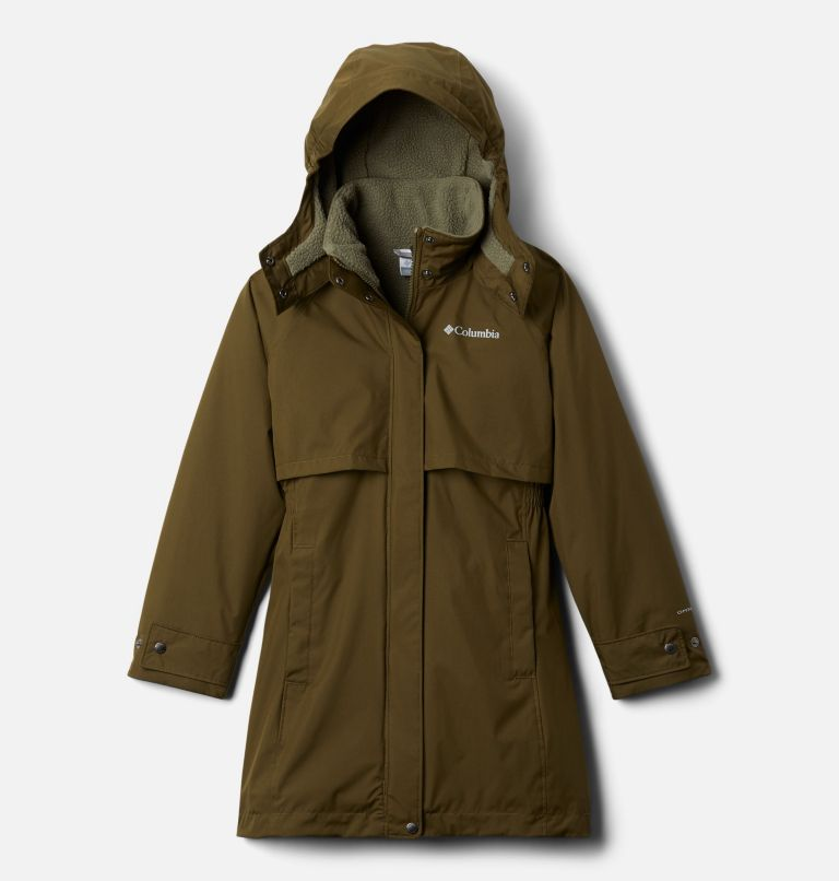 Burkes Bay™ Warm Lined Jacket | 327 | M Girls' Burkes Bay™ Warm Lined Jacket, New Olive, front
