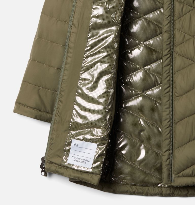 Heavenly™ Long Jacket | 397 | S Girls' Heavenly™ Long Jacket, Stone Green, a1