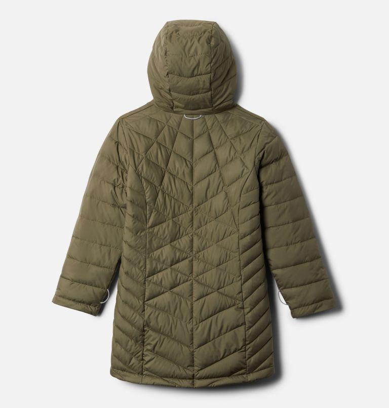 Heavenly™ Long Jacket | 397 | S Girls' Heavenly™ Long Jacket, Stone Green, back