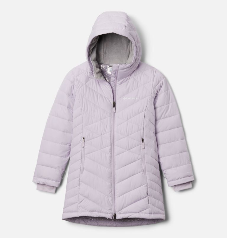 Heavenly™ Long Jacket | 584 | S Girls' Heavenly™ Long Jacket, Pale Lilac, front