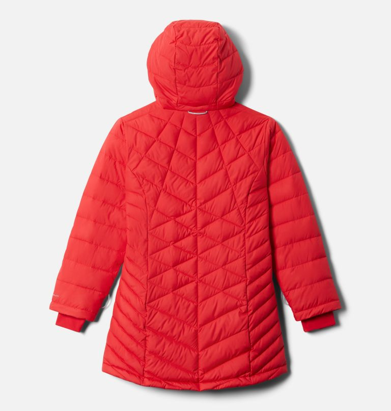 Heavenly™ Long Jacket | 658 | XL Girls' Heavenly™ Long Jacket, Red Lily, back