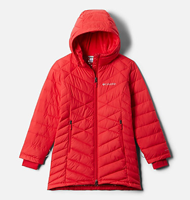 Girls' Heavenly™ Long Jacket Heavenly™ Long Jacket | 658 | M, Red Lily, front