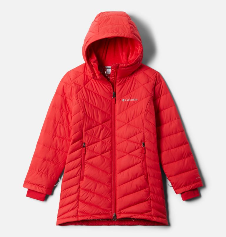 Heavenly™ Long Jacket | 658 | XL Girls' Heavenly™ Long Jacket, Red Lily, front