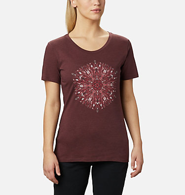 Women's Forest Park™ Short Sleeve Shirt Forest Park™ SS Tee | 010 | M, Malbec Heather, Dotty Medallion, front