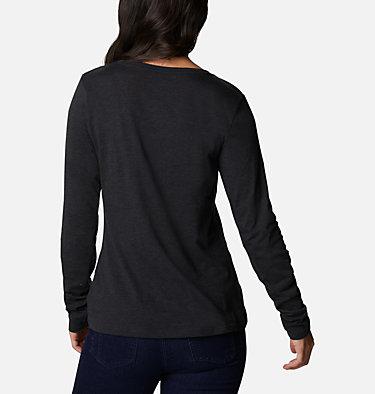Women's Blustery Peak™ Long Sleeve Shirt Blustery Peak™ LS Tee | 010 | L, Black Heather, Hotter Dots, back