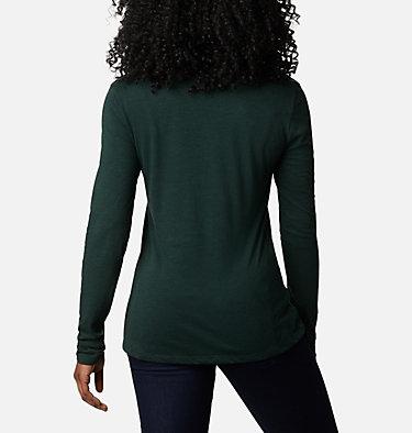 Women's Blustery Peak™ Long Sleeve Shirt Blustery Peak™ LS Tee | 010 | L, Spruce Heather, Ski Towns, back