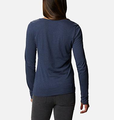 Women's Blustery Peak™ Long Sleeve Shirt Blustery Peak™ LS Tee | 010 | L, Nocturnal Heather, Ski Towns, back