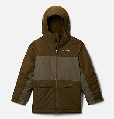 Boys' Porteau Cove™ Jacket Porteau Cove™ Jacket | 464 | XS, New Olive Heather, Stone Green Heather, front