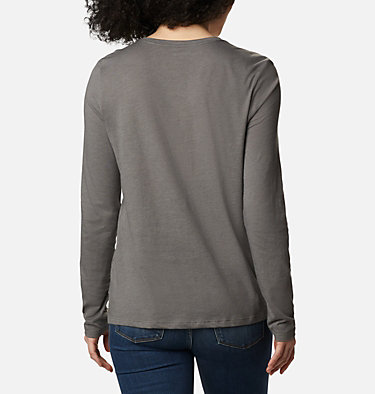 Women's Autumn Trek Long Sleeve Relaxed T-Shirt Autumn Trek™ LS Relaxed Tee | 466 | L, Charcoal Heather, Dotty Heaven, back