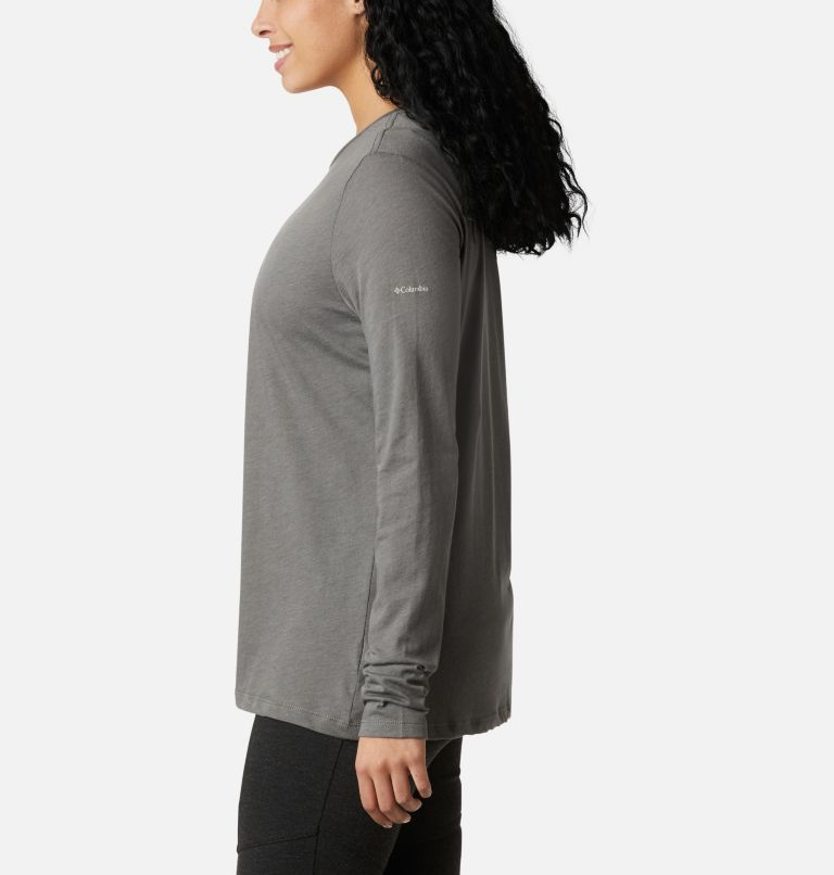 Autumn Trek™ LS Relaxed Tee | 032 | XXL Women's Autumn Trek™ Long Sleeve Relaxed T-Shirt, Charcoal Heather, Walking Puffer, a1
