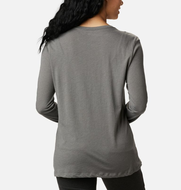 Autumn Trek™ LS Relaxed Tee | 032 | XXL Women's Autumn Trek™ Long Sleeve Relaxed T-Shirt, Charcoal Heather, Walking Puffer, back