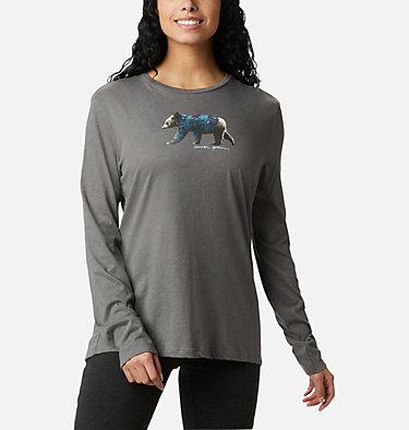 Women's Autumn Trek™ Long Sleeve Relaxed T-Shirt Autumn Trek™ LS Relaxed Tee | 467 | S, Charcoal Heather, Walking Puffer, front
