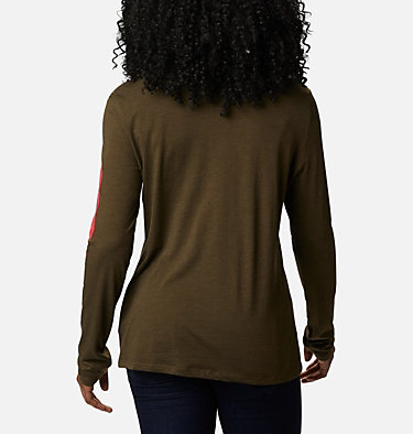 Women's Autumn Trek™ Long Sleeve Relaxed T-Shirt Autumn Trek™ LS Relaxed Tee | 319 | XL, Olive Green Heather, CSC Urban, back