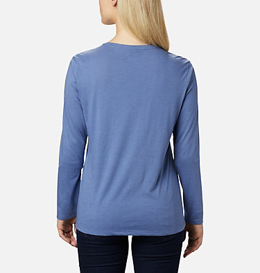 Women's Autumn Trek Long Sleeve Relaxed T-Shirt Autumn Trek™ LS Relaxed Tee | 466 | L, Velvet Cove Heather, Dotty Heaven, back