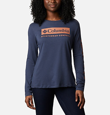 T-shirt manches longues Autumn Trek femme Autumn Trek™ LS Relaxed Tee | 466 | L, Nocturnal Heather, CSC Urban, front