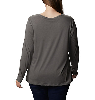 Women's Autumn Trek™ Long Sleeve Relaxed T-Shirt Autumn Trek™ LS Relaxed Tee | 030 | 2X, Charcoal Heather, CSC Urban, back