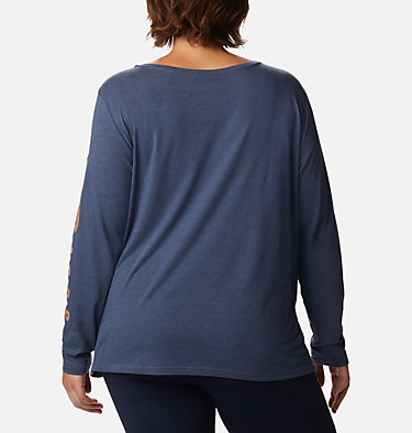 Women's Autumn Trek™ Long Sleeve Relaxed T-Shirt Autumn Trek™ LS Relaxed Tee | 030 | 2X, Nocturnal Heather, CSC Urban, back
