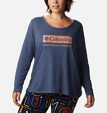Women's Autumn Trek™ Long Sleeve Relaxed T-Shirt Autumn Trek™ LS Relaxed Tee | 030 | 2X, Nocturnal Heather, CSC Urban, front