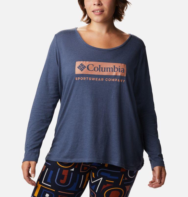 Women's Autumn Trek™ Long Sleeve Relaxed T-Shirt - Plus Size Women's Autumn Trek™ Long Sleeve Relaxed T-Shirt - Plus Size, front