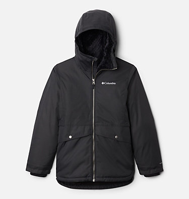 Girls' Porteau Cove™ Mid Jacket Porteau Cove™ Mid Jacket | 618 | XL, Black Heather, front