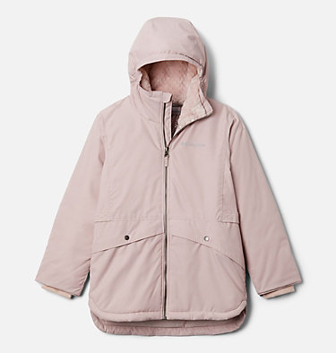 Girls' Porteau Cove™ Mid Jacket Porteau Cove™ Mid Jacket | 618 | XL, Mineral Pink Heather, front