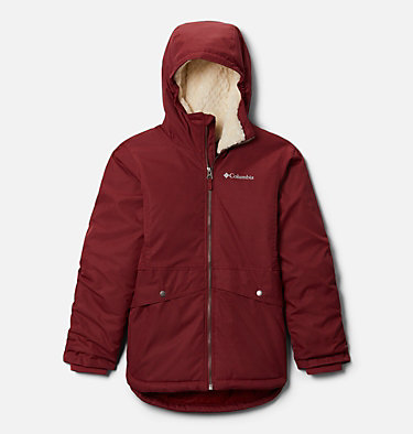 Girls' Porteau Cove™ Mid Jacket Porteau Cove™ Mid Jacket | 618 | XL, Marsala Red Heather, front