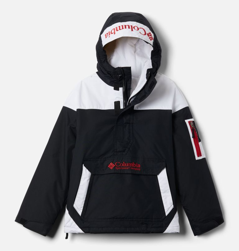 Challenger™ Pull Over | 010 | S Youth Challenger Pullover Jacket, Black, White, Mountain Red, front