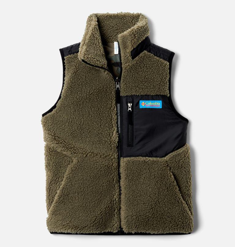Archer Ridge™ Reversible Vest | 397 | XL Kids' Archer Ridge™ Reversible Vest, Stone Green, Black, front
