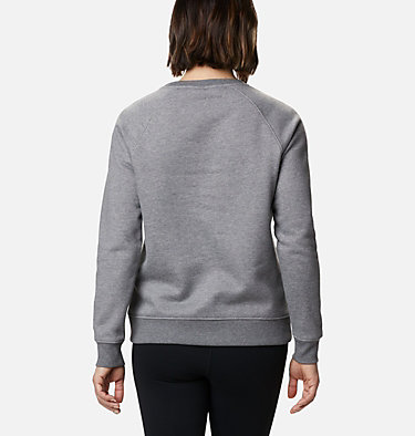 Women's Hart Mountain™ Graphic Crewneck Sweatshirt Hart Mountain™ Graphic Crew | 023 | L, City Grey Heather, Leafscape Stacked, back