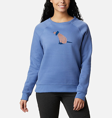 Women's Hart Mountain™ Graphic Crewneck Sweatshirt Hart Mountain™ Graphic Crew | 023 | L, Velvet Cove, Origami Houndstooth, front