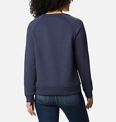 Women's Hart Mountain™ Graphic Crewneck Sweatshirt Hart Mountain™ Graphic Crew | 023 | L, Nocturnal, Leafscape Stacked, back
