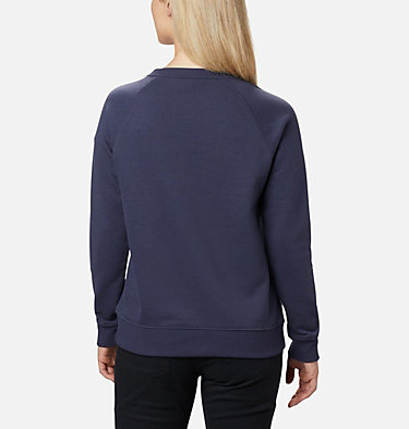 Women's Hart Mountain™ Graphic Crewneck Sweatshirt Hart Mountain™ Graphic Crew | 671 | L, Nocturnal, CSC Peaks, back