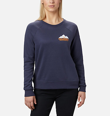 Women's Hart Mountain™ Graphic Crewneck Sweatshirt Hart Mountain™ Graphic Crew | 671 | L, Nocturnal, CSC Peaks, front