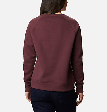 Women's Hart Mountain™ Graphic Crewneck Sweatshirt Hart Mountain™ Graphic Crew | 023 | L, Malbec, Origami Houndstooth, back