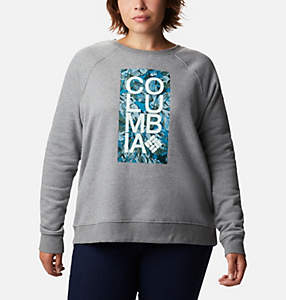 Women's Hart Mountain™ Graphic Crewneck Sweatshirt - Plus Size