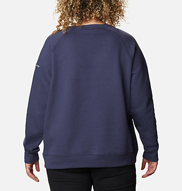 Women's Hart Mountain™ Graphic Crewneck Sweatshirt - Plus Size Hart Mountain™ Graphic Crew | 023 | 1X, Nocturnal, Leafscape Stacked, back