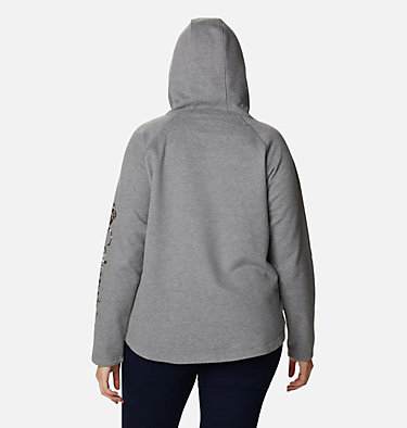 Women's Hart Mountain™ Graphic Hoodie - Plus Size Hart Mountain™ Graphic Hoodie | 466 | 1X, City Grey Heather, CSC Camo Fill, back
