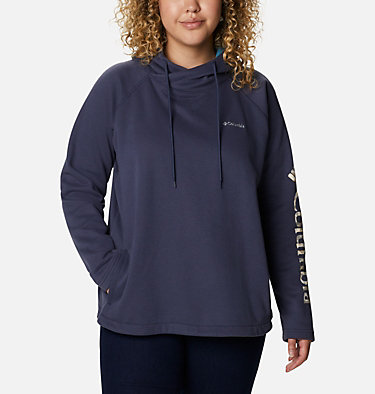 Women's Hart Mountain™ Graphic Hoodie - Plus Size Hart Mountain™ Graphic Hoodie | 466 | 1X, Nocturnal, CSC Camo Fill, front