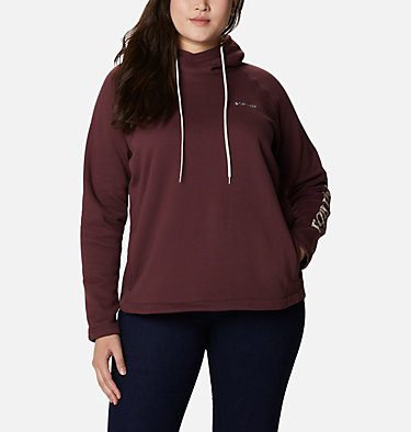 Women's Hart Mountain™ Graphic Hoodie - Plus Size Hart Mountain™ Graphic Hoodie | 466 | 1X, Malbec, CSC Camo Fill, front