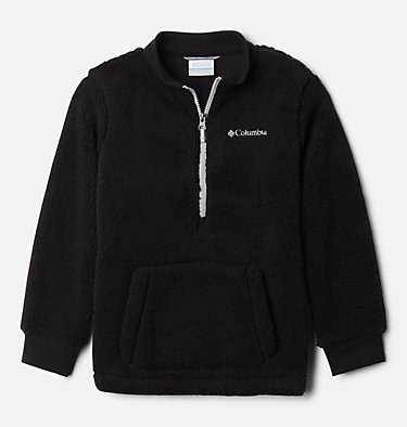 Boys' Rugged Ridge™ II Half Zip Sherpa Fleece Pullover Rugged Ridge™ II Sherpa Half Zip | 010 | XL, Black, Columbia Grey, front