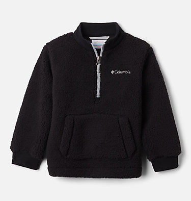 Boys' Toddler Rugged Ridge™ II Half Zip Sherpa Fleece Pullover Rugged Ridge™ II Sherpa Half Zip | 885 | 3T, Black, Columbia Grey, front