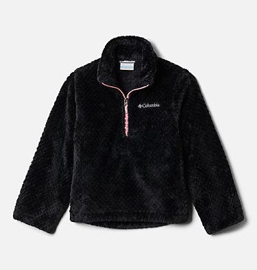 Girls' Fire Side™ Half Zip Sherpa Fleece Fire Side™ Sherpa Half Zip | 619 | XL, Black, front