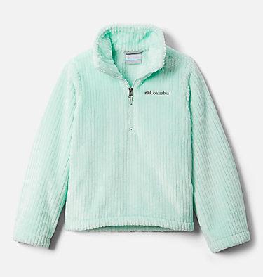 Girls' Fire Side™ Half Zip Sherpa Fleece Fire Side™ Sherpa Half Zip | 619 | XL, Sea Ice, front