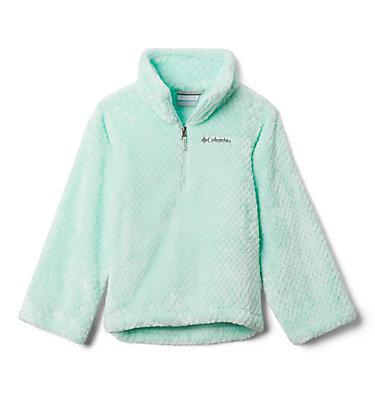 Girls' Fire Side™ Half Zip Sherpa Fleece Fire Side™ Sherpa Half Zip   466   XS, Sea Ice, front