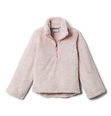 Girls' Fire Side™ Half Zip Sherpa Fleece Fire Side™ Sherpa Half Zip | 619 | XL, Mineral Pink, front