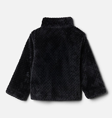 Toddler Girls' Fire Side™ Half Zip Sherpa Fleece Pullover Fire Side™ Sherpa Half Zip | 618 | 3T, Black, back