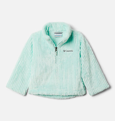 Toddler Girls' Fire Side™ Half Zip Sherpa Fleece Pullover Fire Side™ Sherpa Half Zip | 618 | 3T, Sea Ice, front