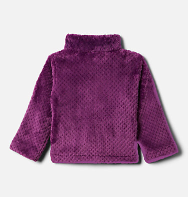 Toddler Girls' Fire Side™ Half Zip Sherpa Fleece Pullover Fire Side™ Sherpa Half Zip | 618 | 3T, Plum, back