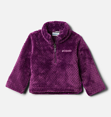 Toddler Girls' Fire Side™ Half Zip Sherpa Fleece Pullover Fire Side™ Sherpa Half Zip | 618 | 2T, Plum, front