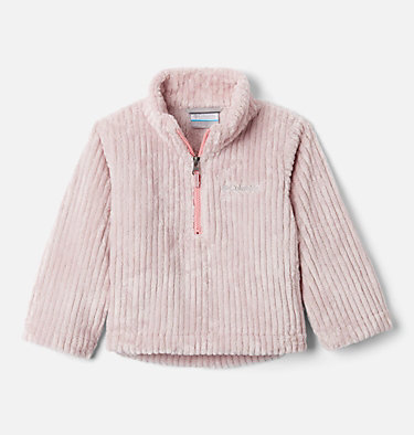 Toddler Girls' Fire Side™ Half Zip Sherpa Fleece Pullover Fire Side™ Sherpa Half Zip | 618 | 3T, Mineral Pink, front